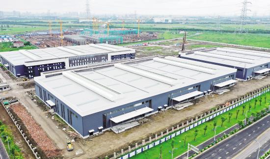 中欧先进制造产业园主体竣工