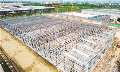 金仓淏华厂房钢结构基本完工